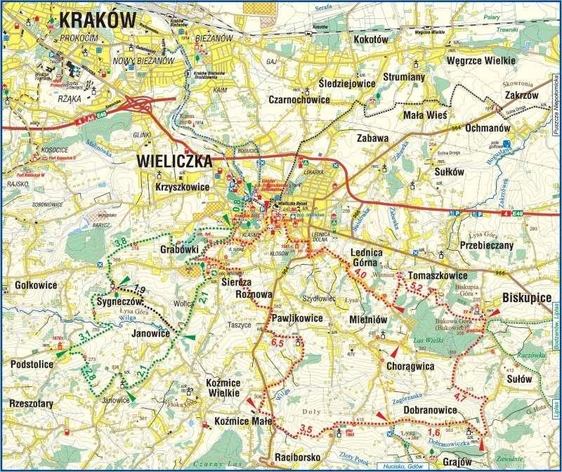 Mines de sel royales de Wieliczka - Pologne. Mapa2010