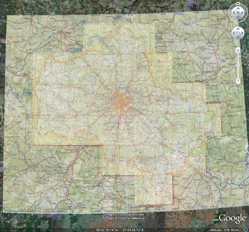 Cartes topographiques -  Région de Moscou - Russie [Surcouche / Overlay pour Google Earth] Mos110