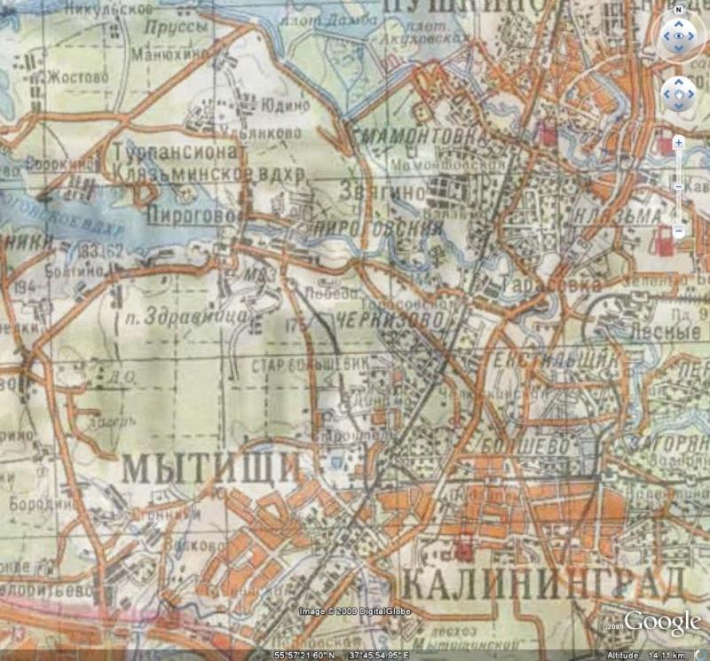 Cartes topographiques -  Région de Moscou - Russie [Surcouche / Overlay pour Google Earth] Mos210