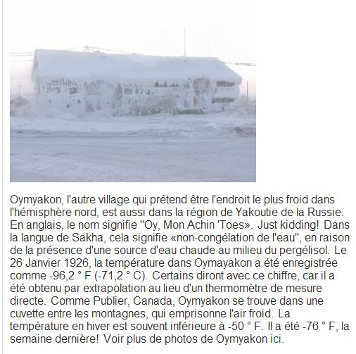 Températures / CLIMAT / Temperature Omi_fr10
