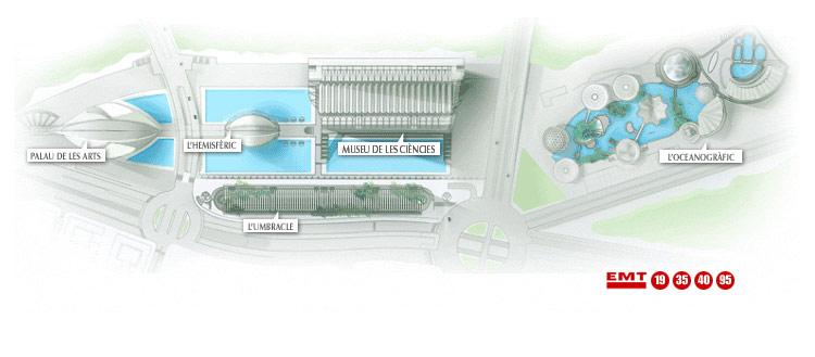 Cité des Arts et des Sciences à Valencia (Espagne) Plano_10