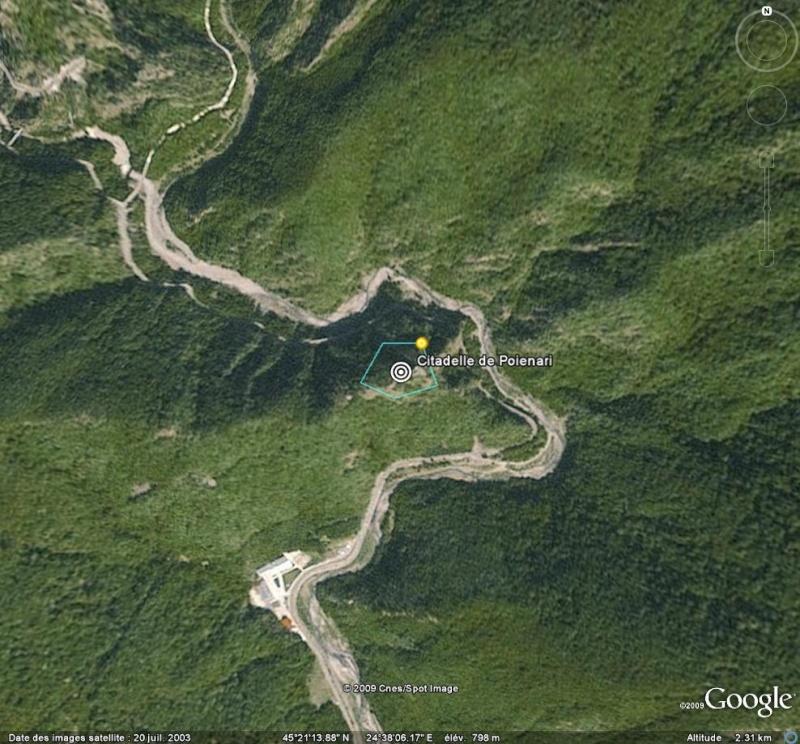 Les châteaux de Dracula repérés dans Google Earth Po11