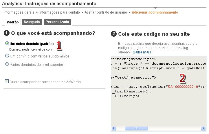 "[FAQ] Adicionar código ""Google Analytics"" 116"