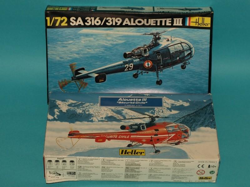 [HELLER]Alouette III en double exemplaire (1/72). MAJ 05/03/18 P1013232