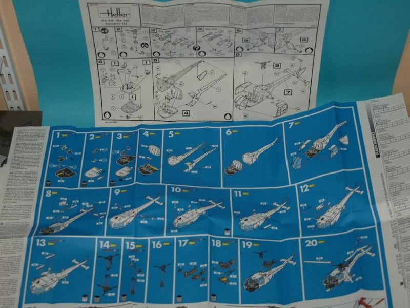 [HELLER]Alouette III en double exemplaire (1/72). MAJ 05/03/18 P1013240