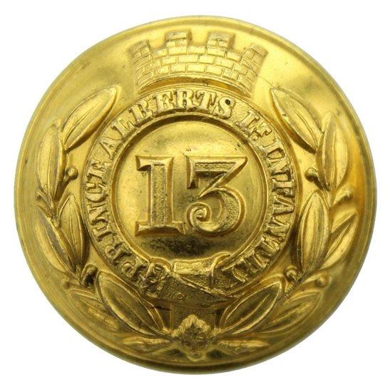 Botón británico del 13º regimiento de linea (1º Somersetshire) 1855--1881 0aayzh10