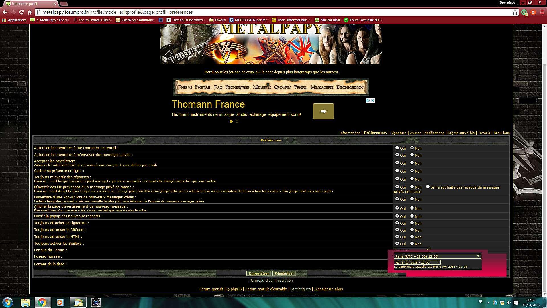 Problèmes divers de fonctionnement du forum Format10
