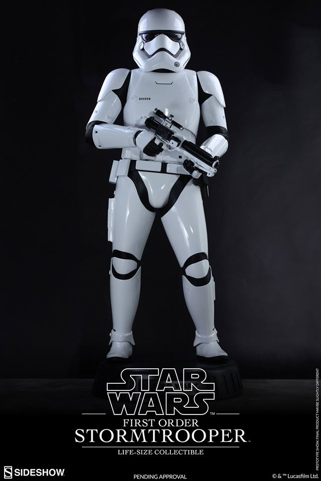 Hot Toys TFA First Order Stormtrooper Life-Size Collectible 12378010