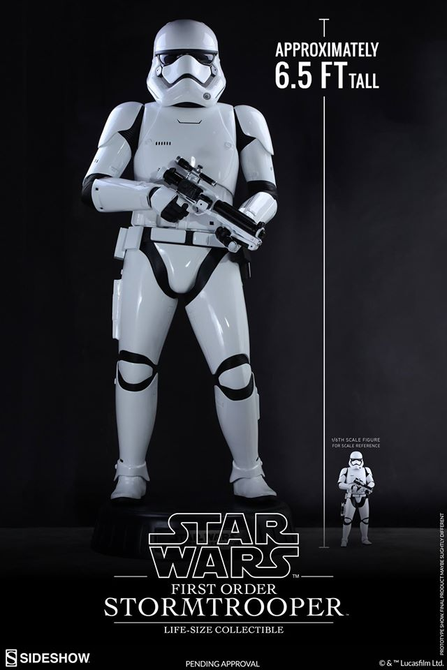 Hot Toys TFA First Order Stormtrooper Life-Size Collectible 12473510