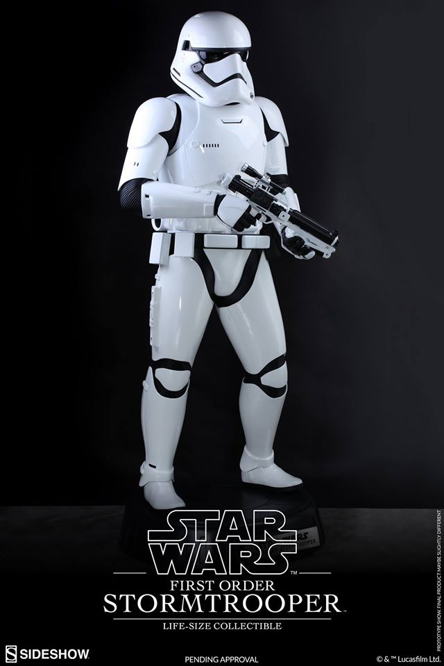 Hot Toys TFA First Order Stormtrooper Life-Size Collectible 12885910