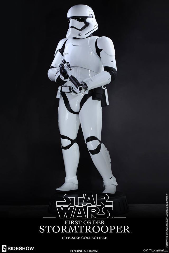 Hot Toys TFA First Order Stormtrooper Life-Size Collectible 12891510