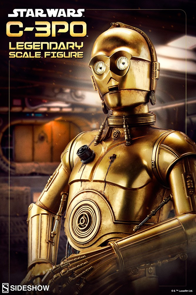 Sideshow Collectibles - C-3PO & R2-D2 Legendary Scale Figure Star-w15