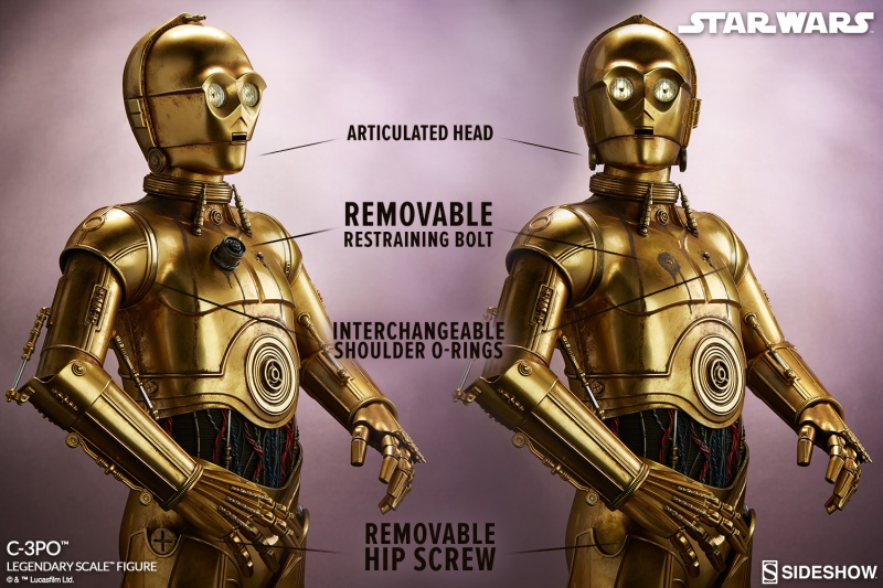 Sideshow Collectibles - C-3PO & R2-D2 Legendary Scale Figure Star-w21