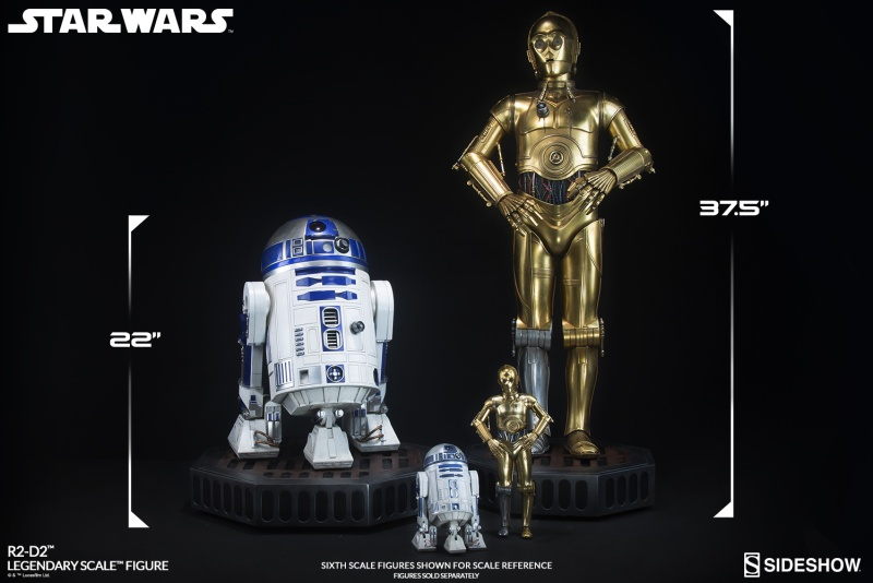 Sideshow Collectibles - C-3PO & R2-D2 Legendary Scale Figure Star-w36