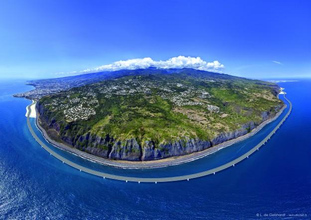 [Bientôt visible sur Google Earth]  La nouvelle route du Littoral, la Réunion 625x4410