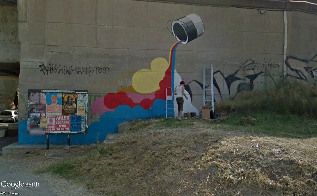 STREET VIEW : street art, grafs, tags et collages - Page 5 Arles11