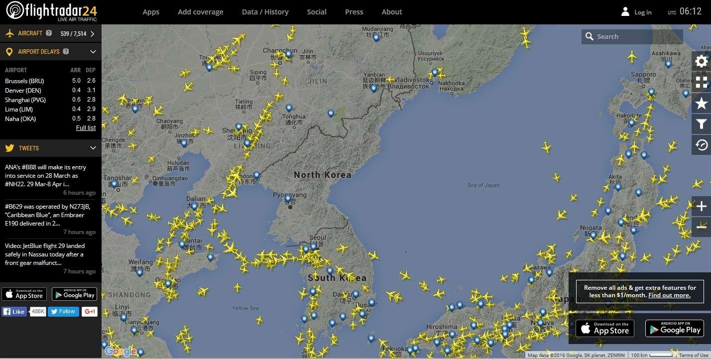 radarvirtuel.com/Flightradar24.com : tous les avions en vol en direct sur une carte - Page 3 Coreed10