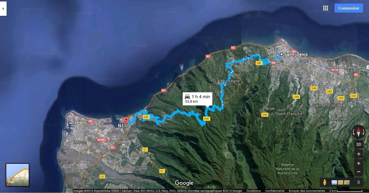 [Bientôt visible sur Google Earth]  La nouvelle route du Littoral, la Réunion Route_14