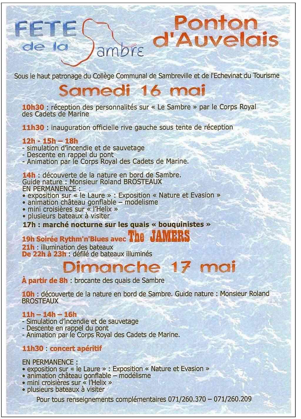 """""""val de Sambre en fête"""": Sambreville 2009 Affich12"""