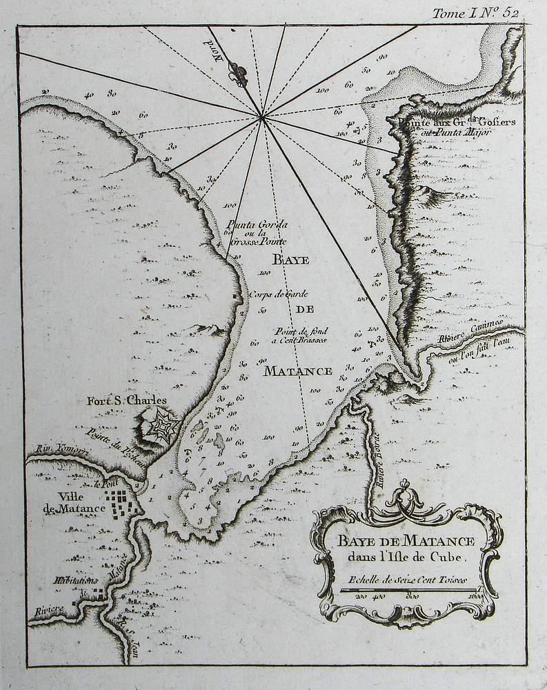 Mapa de Bahía de Matanzas de 1764... ¿naufragios? Bellin10