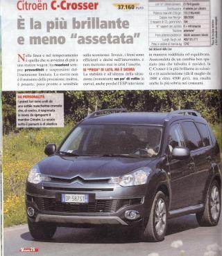 """Test C-Crosser sulla rivista """"Al Volante"""" Prova_10"""