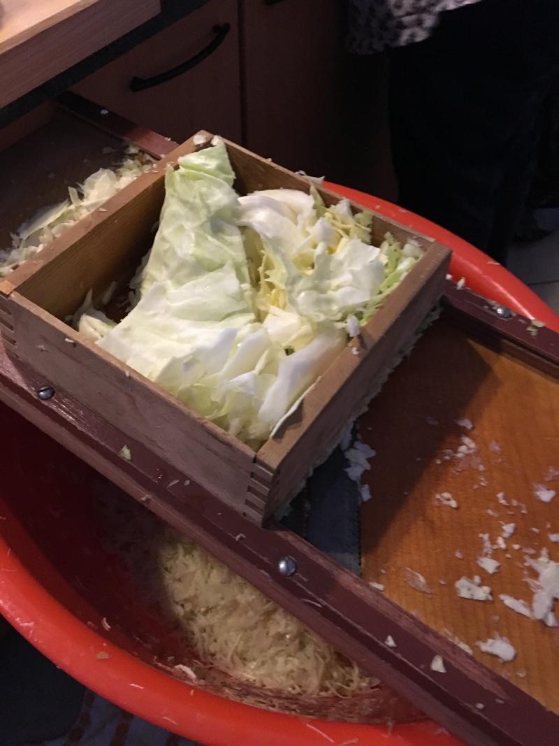 Fabrication de la choucroute Chou10