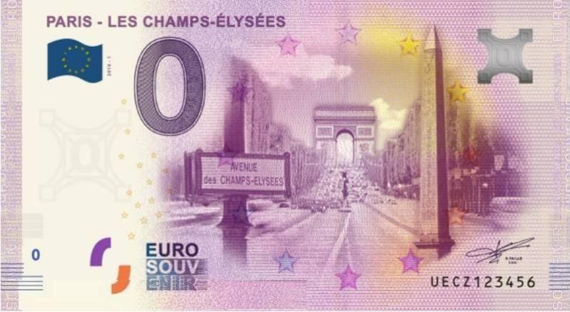 Billets 0 € Souvenirs  [Paris = 81] Champs11