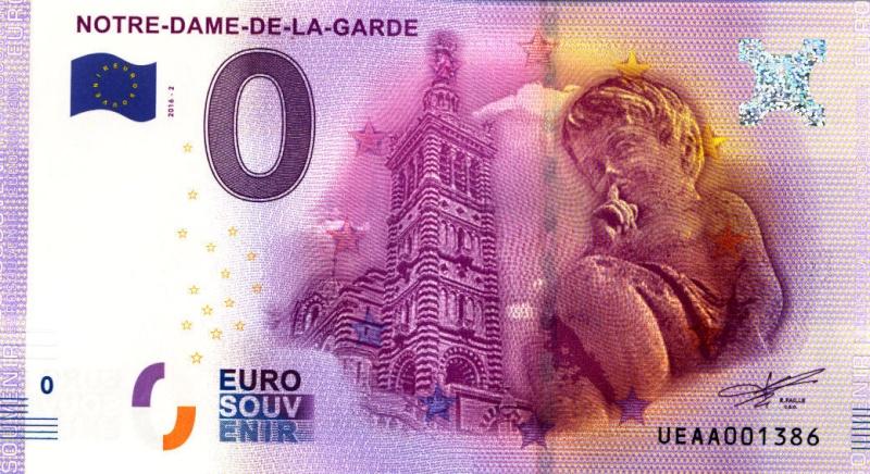 Billets 0 € Souvenirs  [SUD = 62] Marsei12
