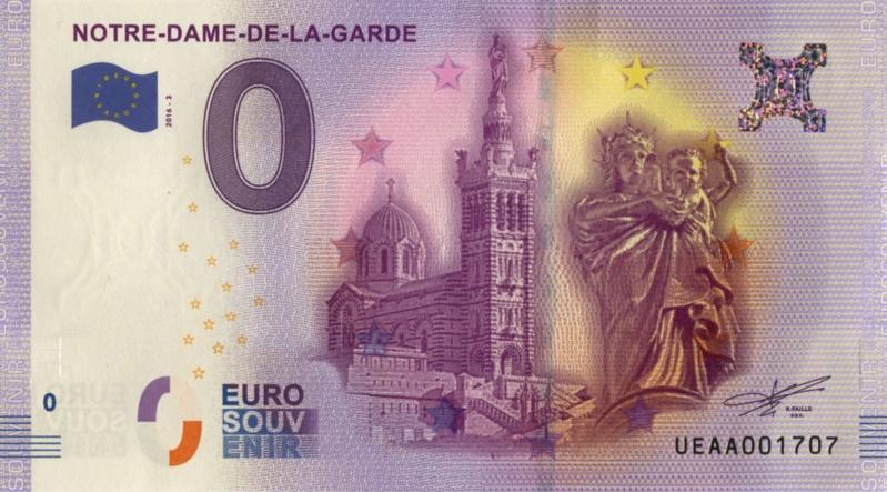 Billets 0 € Souvenirs  [SUD = 62] Marsei13