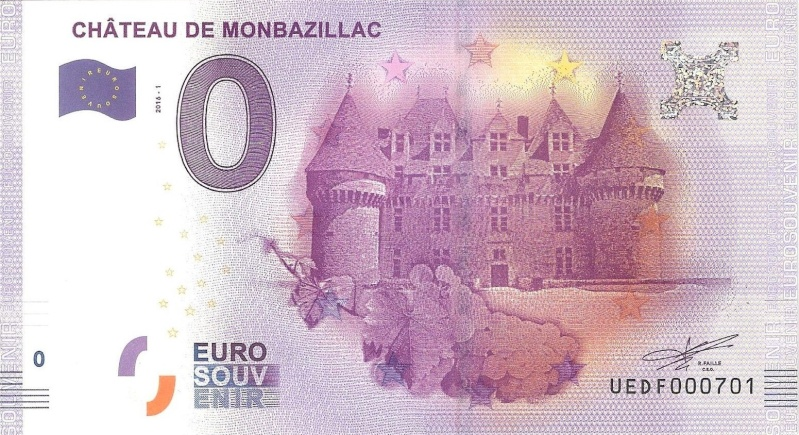Billets 0 € Souvenirs  [Nouvelle Aquitaine = 73] Monbaz10