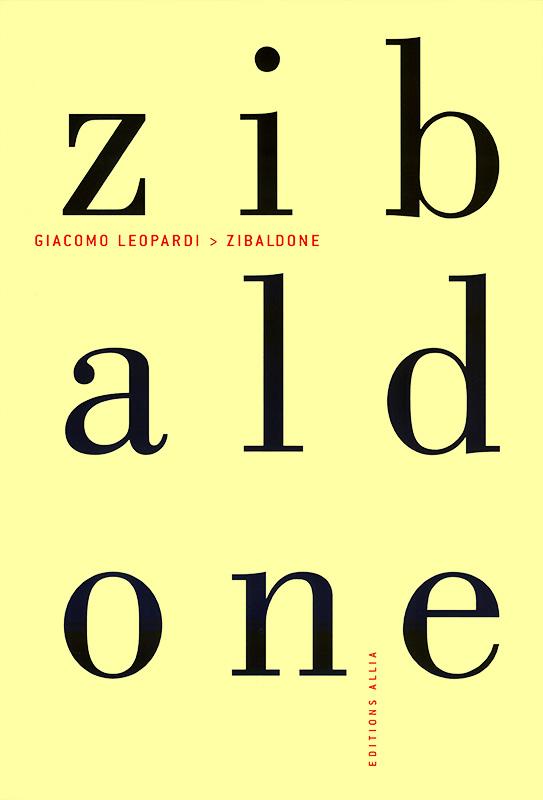 Giacomo Leopardi [Italie] Zibald10