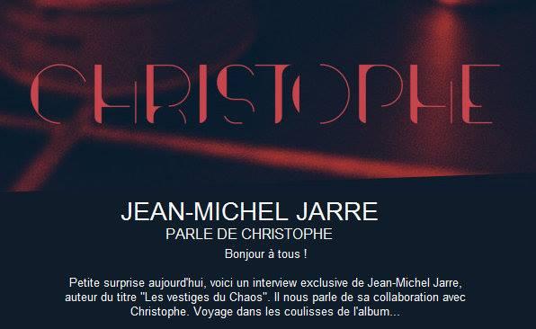 Christophe et Jean-Michel Jarre - ITW 5 - Les vestiges du Chaos 13087510