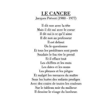 Le Cancre de Jacques Prévert 13043610