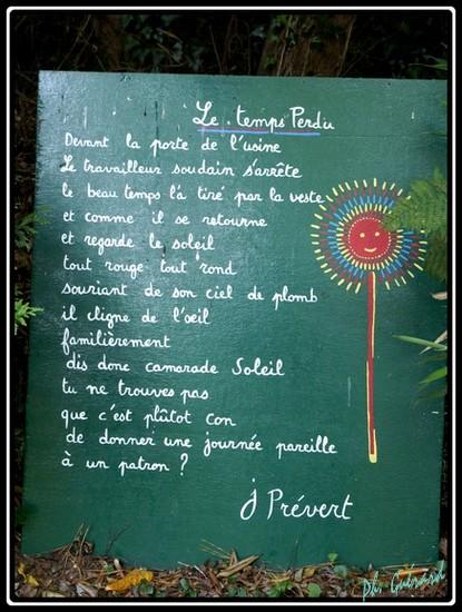 Le temps perdu Jacques Prévert Jardin10