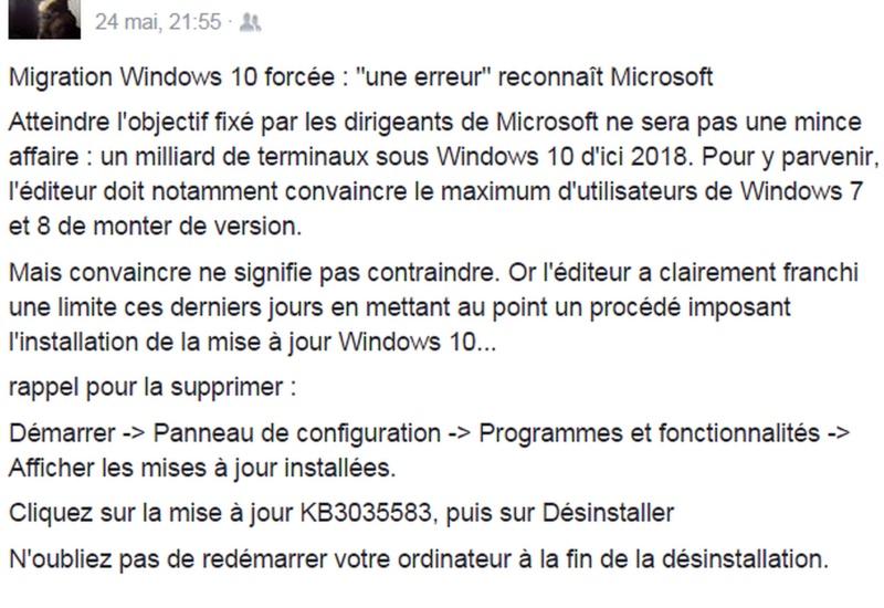 Protégez votre ordinateur gratuitement avec microsoft Windo10