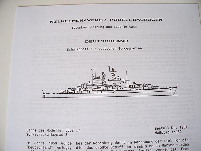 Schulschiff Deutschland 1:250 WHV/Möwe - Verlag FERTIG 0113