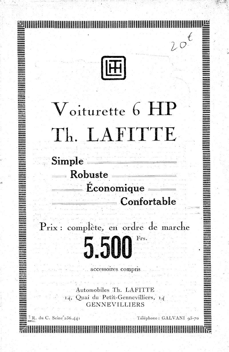 Cyclecar Lafitte Lafitt10