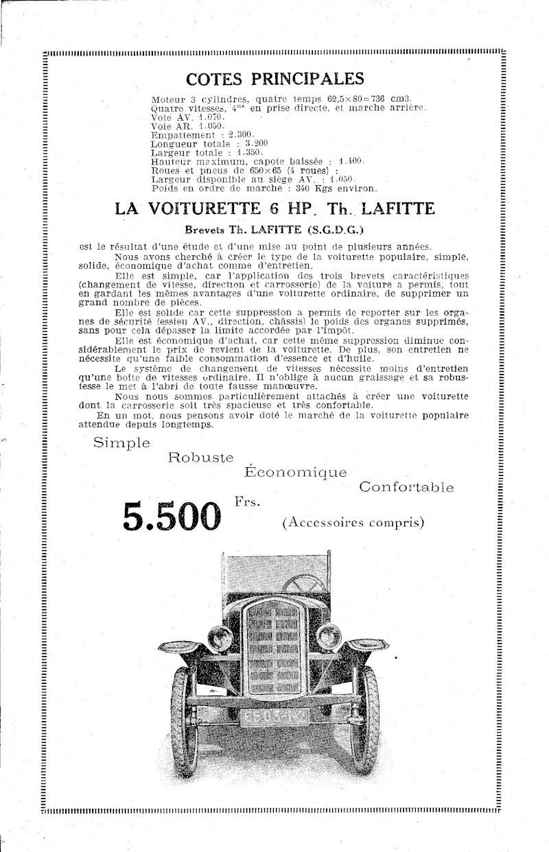 Cyclecar Lafitte Lafitt12