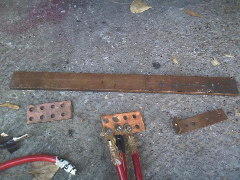 cablage 50² cossés - bare de cuivre Photo121