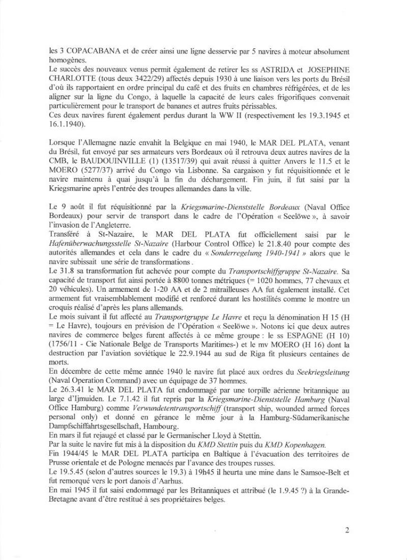 MAR DEL PLATA   Compagnie Maritime Belge M210