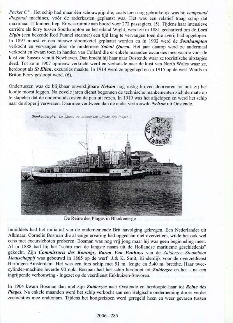 Les Bateaux d'excursions en mer des ports belges M511