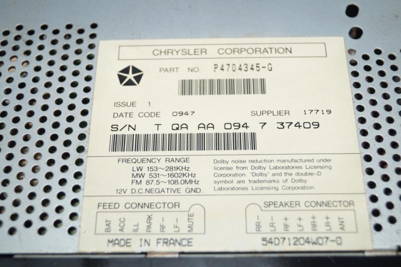 Poste radio cassetteS d origine voyager s3  _dsc3512