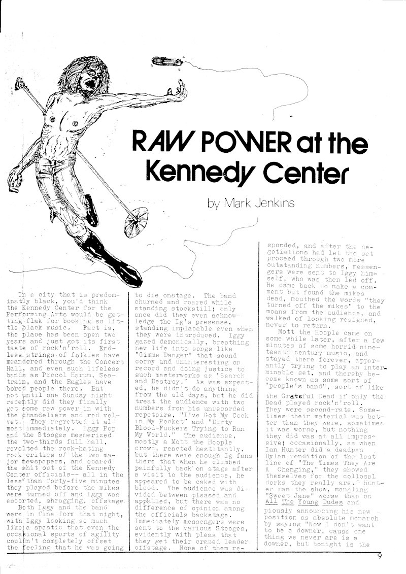 Stooges Review JF Kennedy Center 1973 Scan5010