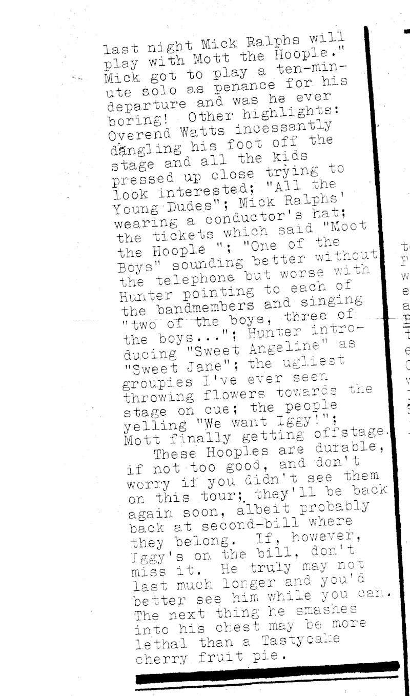 Stooges Review JF Kennedy Center 1973 Scan6010