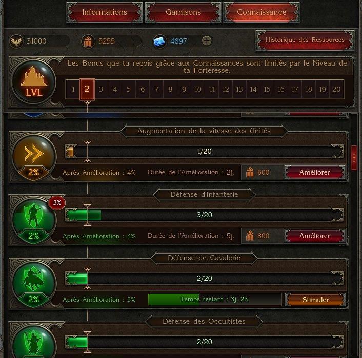progression des unités de la forto Screen12