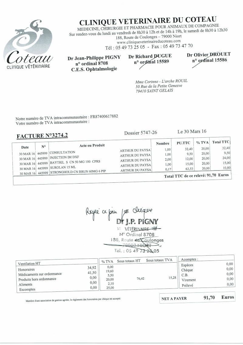 ARTHUR WESTIE NE EN 11/2005 DEPT 17 EN FA  Factur15