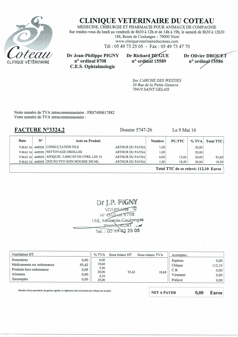 ARTHUR WESTIE NE EN 11/2005 DEPT 17 EN FA  - Page 2 Factur27