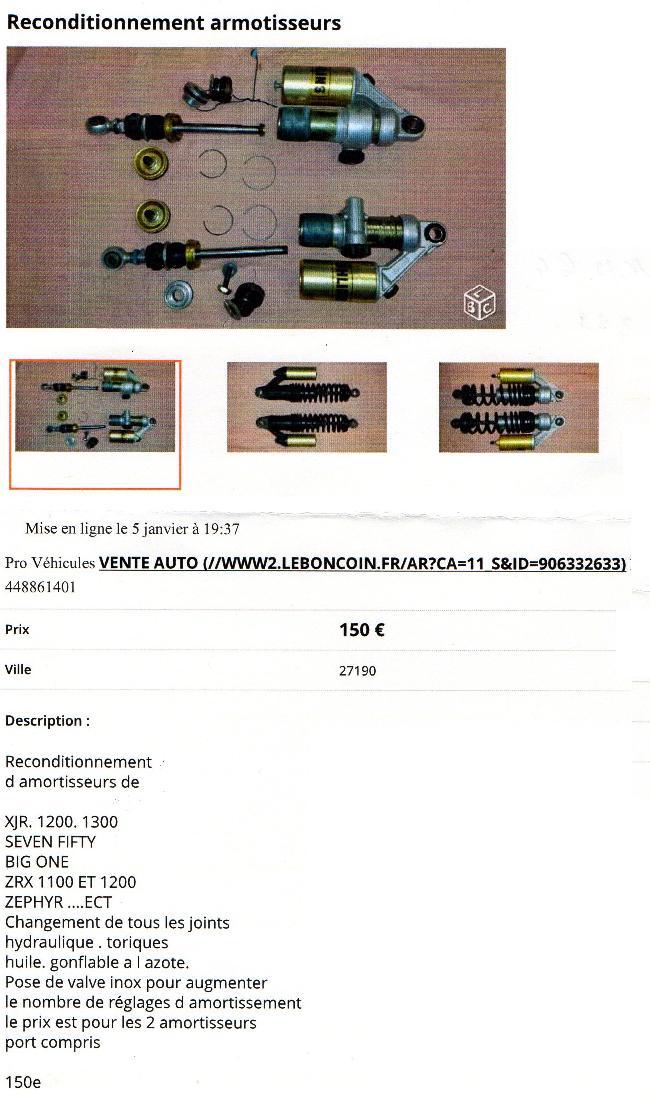 DEAUVILLE 650 - Révision ou Reconditionnement Amortisseur AR Img02610