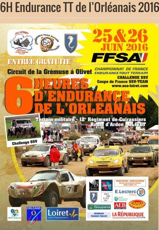 6 H de l'Orléanais 2016, l'affiche Affich10