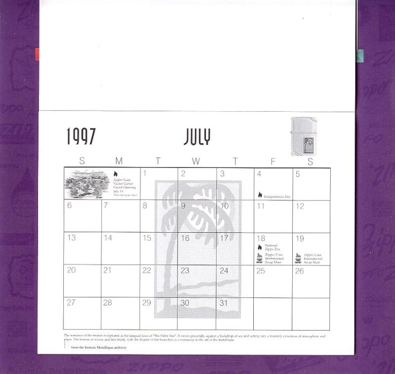 Les accessoires ZIPPO de Bleck (MàJ du 11 01 14) - Page 2 Calend31